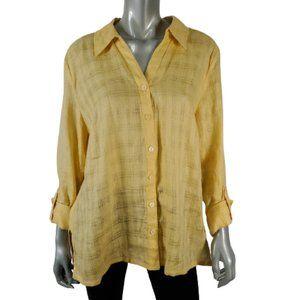 JM Collection 100% Linen Shirt Plus Sz 16
